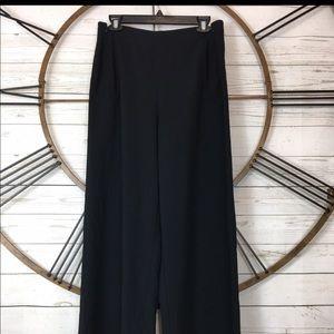 Elie Tahari Womens Black Dress Pants Double Zip